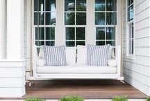 PORCHES / A collection of our favorite porch ideas! Grab tips and tricks to create your dream porches! Curated by Rebekah Dempsey of A Blissful Nest. https://ablissfulnest.com