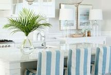 COASTAL DECOR IDEAS / A collection of our favorite coastal decor ideas! Grab tips and tricks to create your dream coastal style home! Curated by Rebekah Dempsey of A Blissful Nest. https://ablissfulnest.com #coastal #coastaldecor