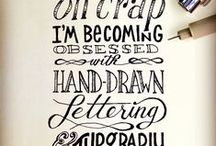 Fonts | Hand Lettering | Typography / For the love of fonts, typography, hand lettering and calligraphy