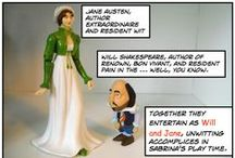 Will and Jane's Excellent Adventure / My comic about the fun times had by my William Shakespeare and Jane Austen action figures, along with a host of their action figure friends.