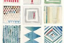 FABRIC / Inspiration board for modern quilting.