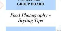 STYLING TIPS food photography group board / TwoLovesStudio.com is all about the best food photography.  This group board is for your BEST food styling tips.  Usual rules - 5 pins/day, stay on topic, minimize repeat pins.  Message me for an invitation.