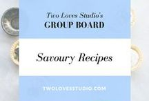SAVOURY RECIPES Group Board / Especially for food bloggers, great photography is the chance to tell a story with your food.  Share your pins of all types of savoury recipes with beautiful photography. Usual rules - 5 pins/day, pls don't repeat frequently. Here is my Google Doc for an invite http://twolovesstudio.com/pinterest-group-boards/