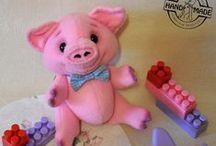My toys. Мягкая игрушка / Примеры моих игрушек из флиса.