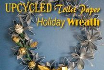 UDL - Upcycled Holiday Decorating / Frugal decorating for the holidays.  DIY's Video's, and tutorials by Upcycled Design Lab