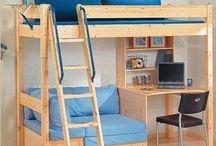 Bunk beds for small rooms / Literas para ahorrar espacio