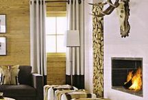 Chalet interiors / ski lodge, mountain cottage