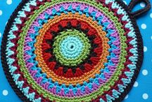 Crochet Mandala's / potholders / cozies