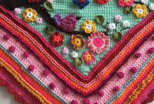 Crochet throws, scarfs , hats & more