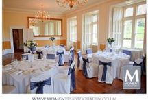 Wedding table settings / I am a Somerset based wedding photographer.  I am skilled at capturing beautiful moments at weddings and being discreet whilst doing so.  I am experienced and use the very latest professional camera equipment. www.momentphotography.co.uk