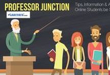 Professor Junction - Have us write an article for you! / A resource for professors to acquire and request certain educational resources on www.eLearners.com for their students.  http://www.elearners.com/professors-online-students/