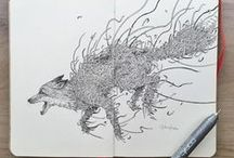 Doodle art & scetching / Interesting pictures and sketching