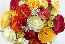 Wedding Flower Jewelry / Add a bit of sparkle to your wedding bouquet with floral jewelry. Tiny pearls, rhinestones - these tiny jewels create a beautiful addition to your bouquet. http://www.maweddingguide.com/wedding-trends/ceremony/bridal-bouquets.htm