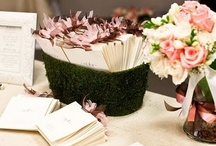 Welcome Tables / Greet your guests with a welcome table set up with place cards, flowers and a few other necessities...