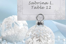 Blue Winter Wedding Theme / Create a winterwonderland wedding with inspiration of snowflakes and pale blue wedding accessories and past real weddings.