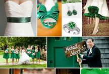 Emerald Green Wedding / Pantone's 2013 'It' Color is Emerald Green. We just love this color for a Massachusetts or Rhode Island wedding. Silk and satin fabrics give a vibrant splash of color while crystals and gems add a bit of shimmer and sparkle.