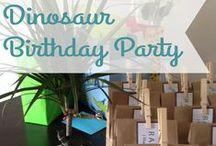 Sawyer's Dinosaur Themed Birthday Party