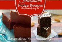 FUDGE & CANDY - ODONNA / All kinds of fudge receipes and candy