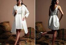 Short Wedding Dresses / Whether its a casual wedding, destination wedding or a wedding reception dress - find short and chic styles in wedding dresses.