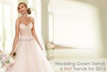 2015 Bridal Gown Trends / Fabulous #BridalGowns styles that are trending for 2015.