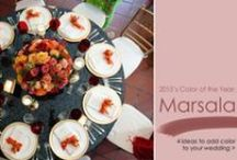 Wedding Colors: Marsala / Marsala is Pantone's 2015 Color of the Year. Discover inspiration to incorporate this color into your wedding.