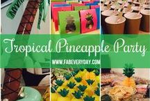 Destination Tropical Pineapple 50th Birthday Party