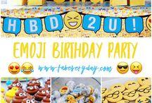 Grayson's Emoji Themed Birthday Party