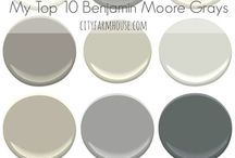 """""""Go To""""  Paint Colors / Some of my favorite paint colors for walls, ceilings, trim.  Great ideas for Interior Spaces, as well as Exterior.  These are all tried and true paint selections from Benjamin Moore"""