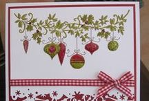 cards-christmas ornaments / by Pam Klaeser