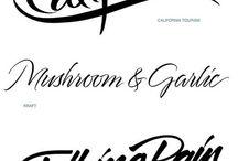 Logos fonts typography
