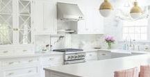 WHITE kitchen / All-white kitchens