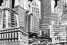 Mexico City, aka La Muy Noble e Insígne, Muy Leal e Imperial Ciudad de México / Desde donde se posan las águilas, desde donde se yerguen los tigres, el Sol es invocado.Como un escudo que baja, así se va poniendo el Sol. En México está  / by Ruy Hermosillo