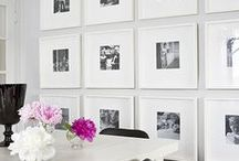 Hanging Art / Decorating ideas for arranging art on your walls.