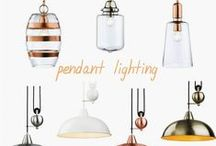 Pretty Pendants / A selection of gorgeous pendant lights, many style designs and colours... traditional and modern, LED versions too!