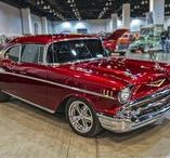 57 CHEVY BEL AIR / I have wanted a 57 Chevy Bel Air for such a long time! I almost drool when I see one driving down the street. Jealous? You bet! I will get one eventually, and I am thinking it should be in deep, dark red!