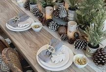 Thanksgiving Tablescape / Add a unique touch to your Thanksgiving table with rustic, harvest décor and lovely handmade pieces.