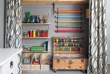 Craft Room Organization / Tips for organizing your craft room during #NationalCraftMonth!