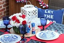 Memorial Day Weekend / Celebrate Memorial Day with patriotic décor inspiration, cookout recipes, outdoor activity ideas and more!