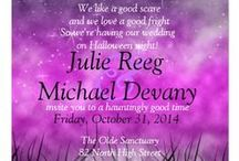 Halloween Wedding / Welcome to our Hallowedding planning! / by Julie Devany