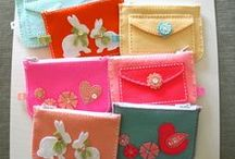 Coin Purses  Hand Stitched with Felt / Felt Stitched Coin Purses
