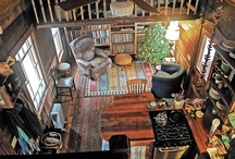 Tiny House Interiors and Exteriors / The tiny house is defined as a living space under 400 square feet.  A small house is under 1000 square feet. / by Foy Joy