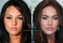 Photoshop + makeup-free celebrities + models looking more normal / This board features before + after photoshop + plastic surgery + makeup...photoshop is beautiful art - not reality. The purpose of this board is to show that these women are already gorgeous without photoshop, makeup, etc. I am concerned about the number of girls and women who negatively compare themselves to - or aim for the unrealistic perfection of - a photoshopped image...Just look at some of the comments on this board to see it happening...