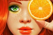 ORANGE / #colour #color #moodboard #inspiration #orange #coral #amber #peach #apricot #citrus