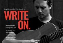Write On Ad Gallery / Our commitment to songwriters and composers – from living legends to rising stars – endures.  We value you, your music, your rights. #WriteOn