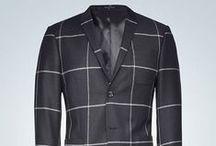 Evert Windopane Blazer / Men's blazer in slightly brushed wool twill with clean windowpane design. #tigerofsweden #blazer