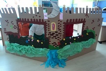 Education: Cardboard and decorations / by Gemma