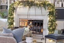 Mantels and Tabletops / Arranging decorative objects makes a difference in the feeling of a room.