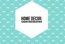 Home Decor: Cabin Decorating / Decorating the cabin I want to one day own! Lake living, beach living, this board has the elements I want to incorporate into my one-day getaway house!