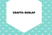 Crafts: Burlap / I love burlap and this board has ideas for projects and products