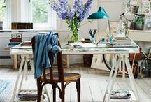 Work Spaces / Beautiful home office spaces where I wouldn't mind working all day!